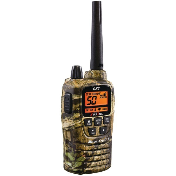 MIDLAND GXT2050VP4 36-Mile Camo GMRS Radio Pair Pack with Drop-in Charger