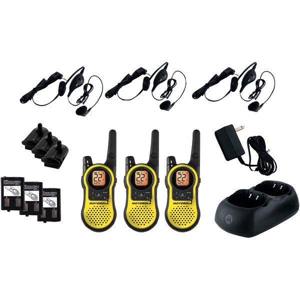 MOTOROLA MH230TPR 23-Mile Talkabout® 2-Way Radios Triple Pack