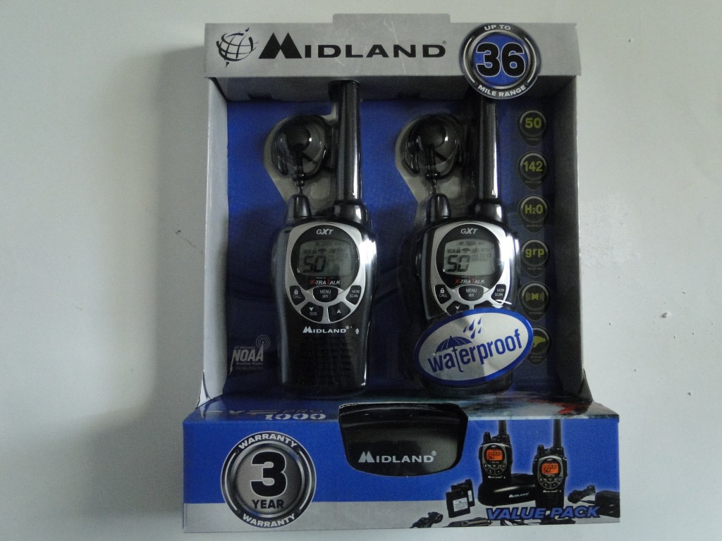 Midland GXT1000VP4 36-Mile 50-Channel FRS/GMRS Two-Way Radio