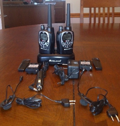 Midland Radio GXT1000VP4 Two-Way Radio During Testing