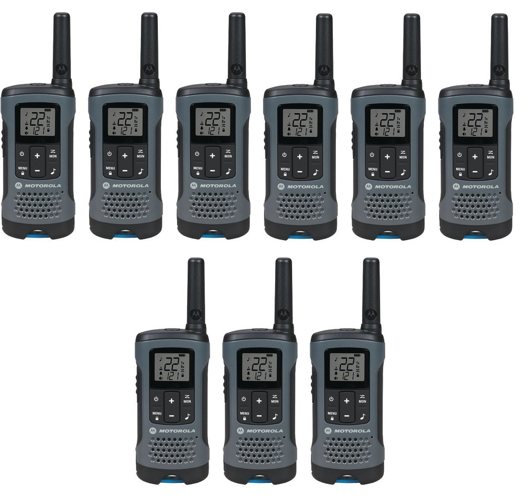 motorola talkabout t200tp two way radio walkie talkie 9 pack set. Black Bedroom Furniture Sets. Home Design Ideas