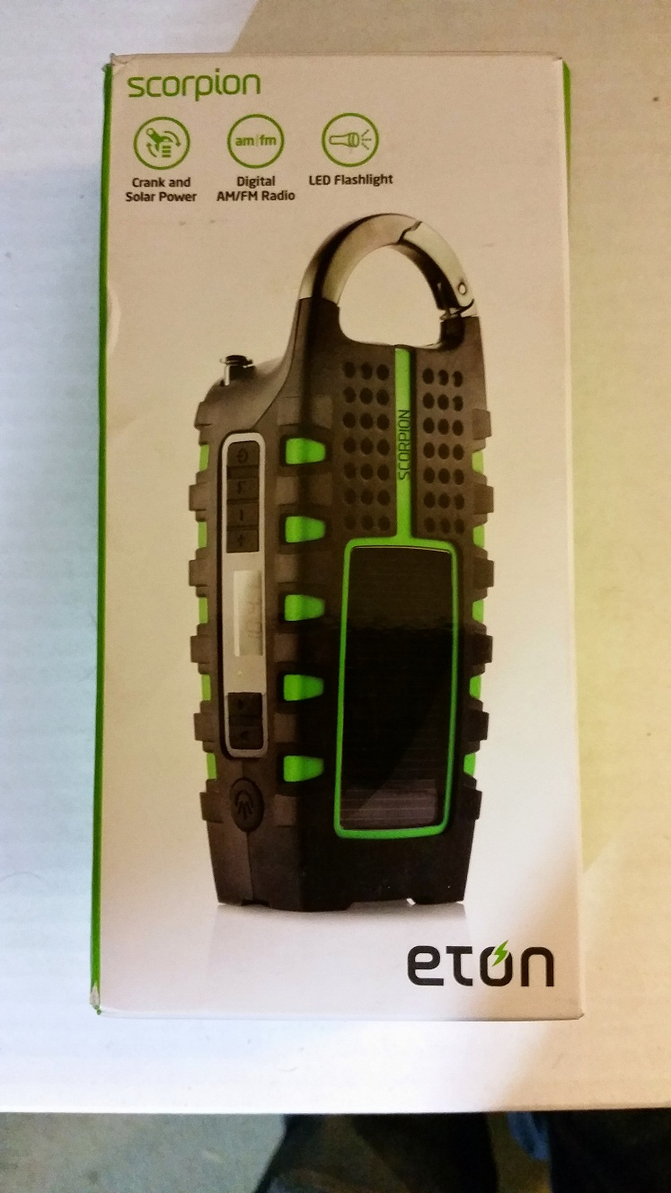 Etón SCORPION Rugged, Portable Multi-Purpose Digital Radio with Crank Power Back-up and Weather Alerts