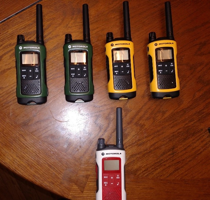 Getting some of the Motorola Two-Way Radios ready for my testing.