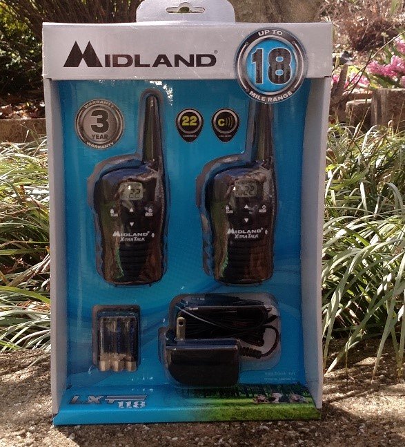 MIDLAND LXT118 18-Mile GMRS Two Way Radio Pair
