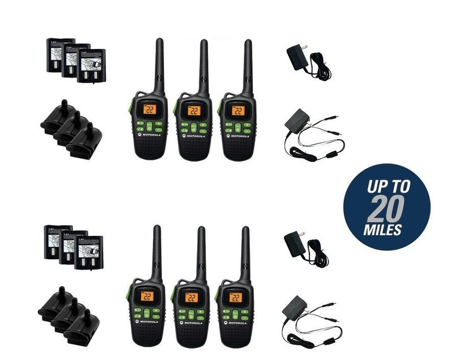 Motorola Talkabout Two way Radio Walkie Talkie MD200TPR FRS/GMRS 6 Pack