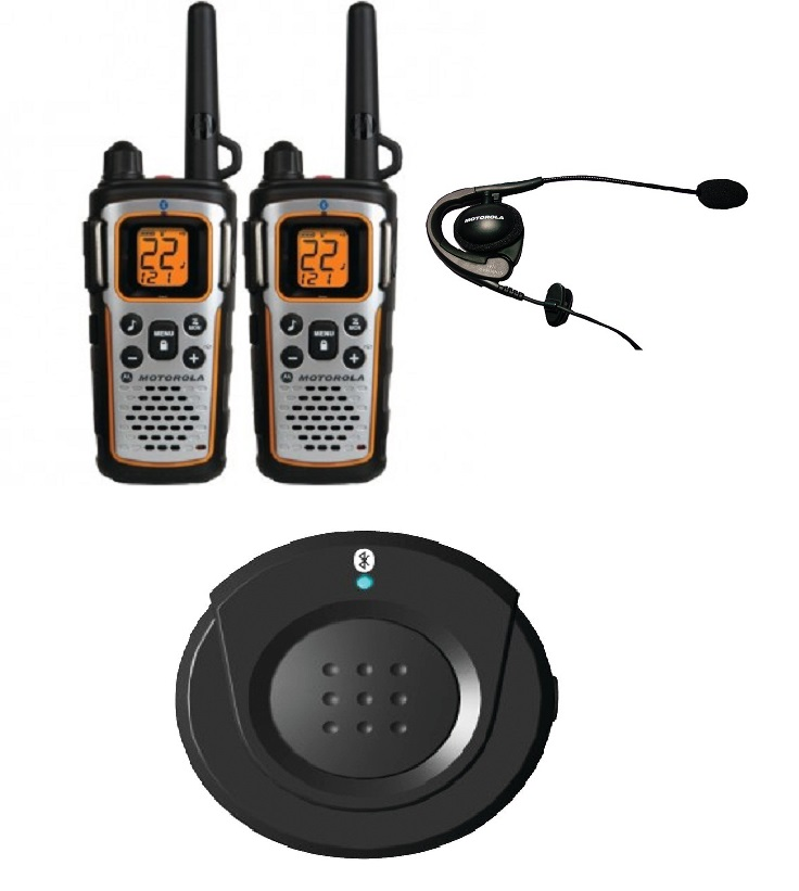 Motorola Mu350r 35 Mile Talkabout Bluetooth 2 Way Radio Bluetooth Ptt Pod Earpiece With Boom Microphone Digitalnerds Com