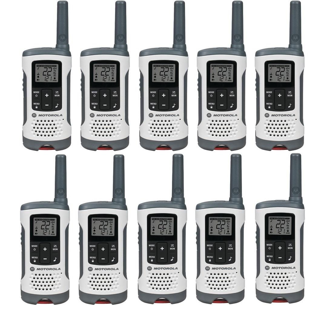 Walkie Talkies 4-PACK Motorola T260 Rechargeable Two-Way Radios