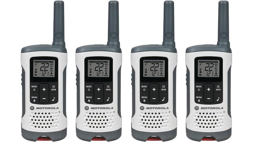 Motorola Talkabout T260 Walkie Talkie Set 20 Mile Two Way Radio 4 Pack
