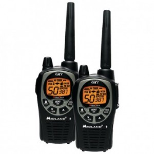 MIDLAND GXT1000VP4 36-Mile GMRS Radio Pair Pack with Batteries & Drop-in Charger
