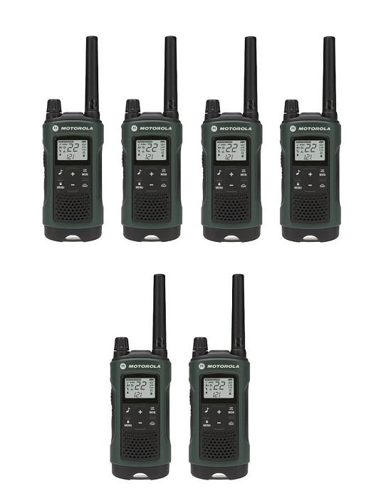 Motorola Talkabout T465 Walkie Talkie 6 Pack 35 Mile Two Way Radio Case+Earbuds
