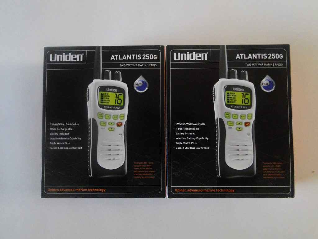UNIDEN Atlantis 250G Handheld 2 Way Marine Radio White Gray two pack
