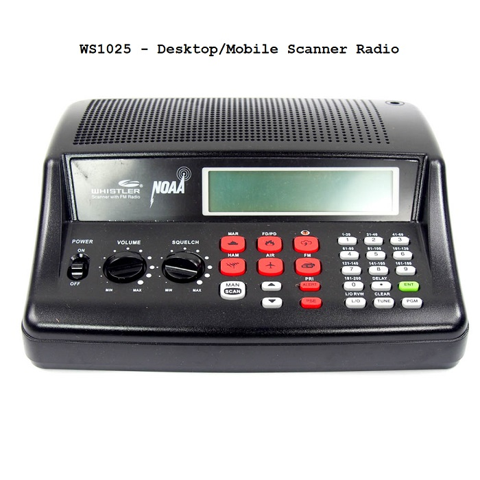 WS1025 - Desktop/Mobile Scanner Radio