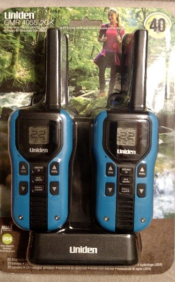 Uniden Walkie Talkie Our second Option GMR4055-2CK